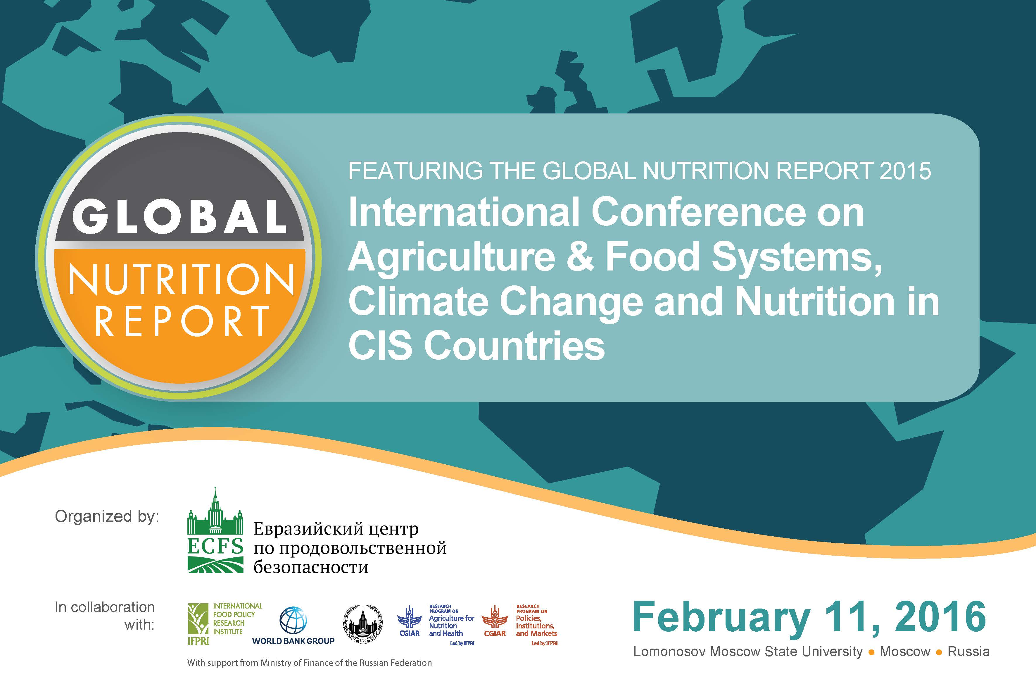 Agriculture & Food Systems, Climate Change and Nutrition in CIS Countries Featuring the Global Nutrition Report 2015