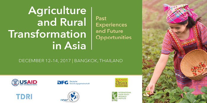 The 2017 ReSAKSS-Asia conference:  Agriculture and Rural Transformation in Asia